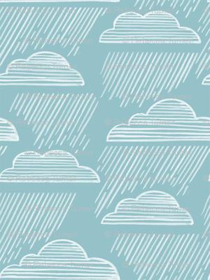 Rain falls
