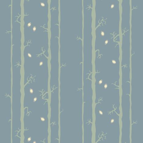 Stalk Blue fabric by bee&lotus on Spoonflower - custom fabric