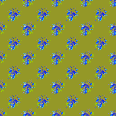 Roses in Blue and green fabric by joanmclemore on Spoonflower - custom fabric