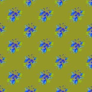 Roses in Blue and green