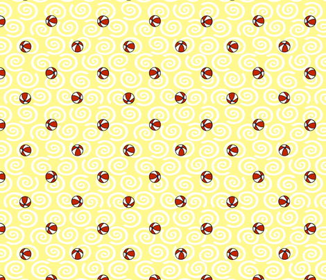 © 2011 WLBAMO - Balls and Sand fabric by glimmericks on Spoonflower - custom fabric