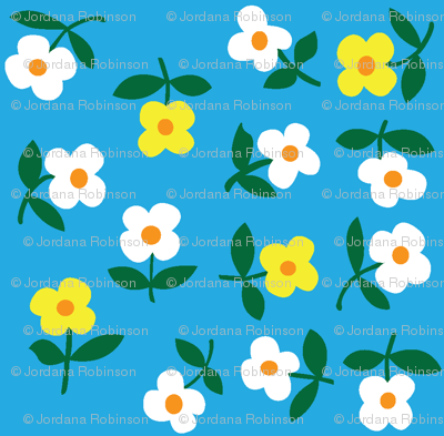 posies (light blue)