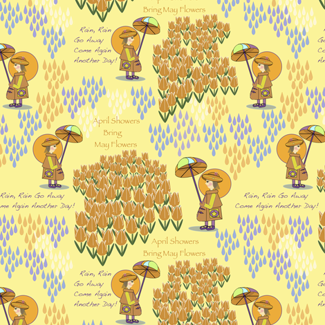 Rain, Rain fabric by petals_fair_(peggy_brown) on Spoonflower - custom fabric