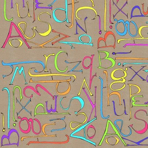 kraft_paper_alphabet