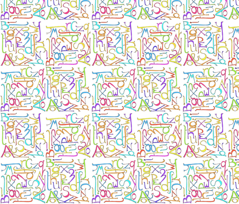 graph_paper_alphabet fabric by wiccked on Spoonflower - custom fabric