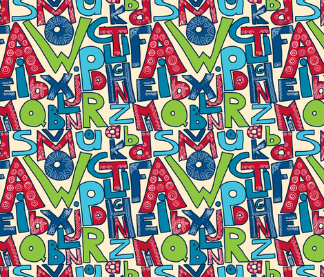 alphabet_en_folie fabric by nadja_petremand on Spoonflower - custom fabric