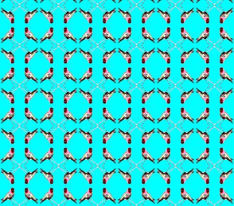 Hummingbird Repeat fabric by robin_rice on Spoonflower - custom fabric