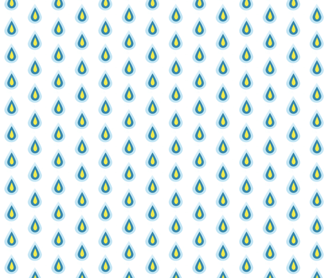 raindrops fabric by isabelledebionne on Spoonflower - custom fabric