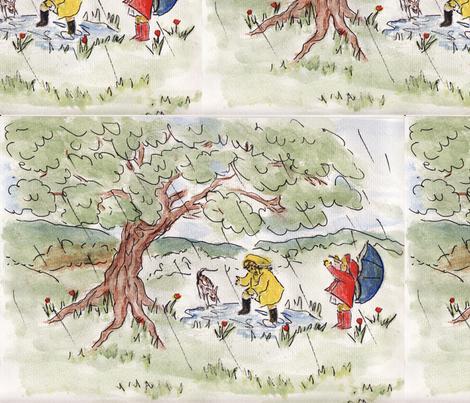 Rainy Day Play fabric by artzy on Spoonflower - custom fabric