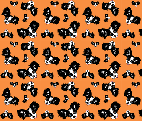 Detective_Tinkerton_orange_background fabric by mackerilla on Spoonflower - custom fabric