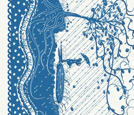 RAIN, RAIN GO AWAY - papercut fabric by trcreative on Spoonflower - custom fabric