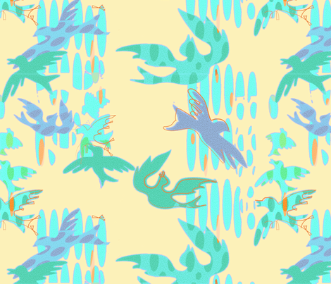 Rain_Birds fabric by kantakaa on Spoonflower - custom fabric