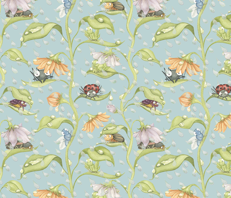 Little_Buggies_Want_to_Play fabric by nicoletamarin on Spoonflower - custom fabric