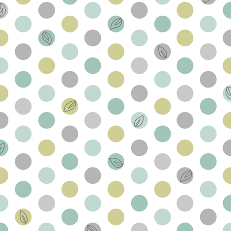 Lotsa Dots - Leaf fabric by pattysloniger on Spoonflower - custom fabric
