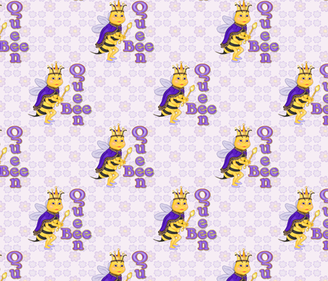 Queen Bee fabric by spicetree on Spoonflower - custom fabric