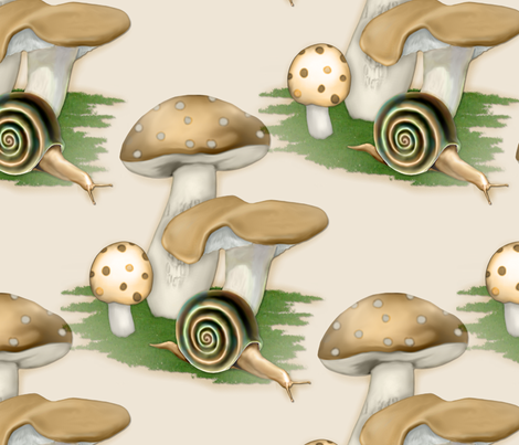 Snail Garden fabric by spicetree on Spoonflower - custom fabric