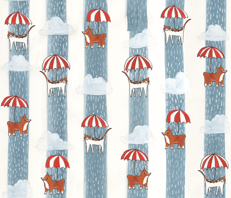 chats_et_chiens fabric by cinqchats on Spoonflower - custom fabric
