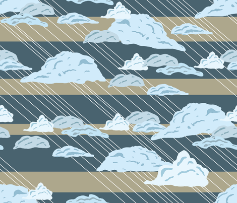 rainclouds fabric by babysisterrae on Spoonflower - custom fabric