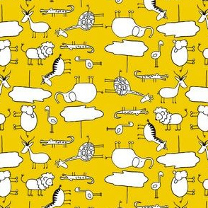 Mini Doodle Safari- Yellow
