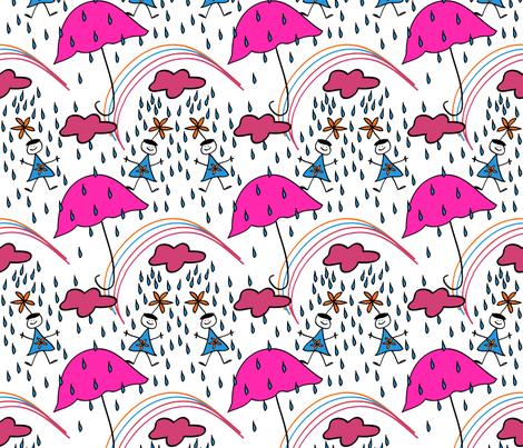 rain_girls_new_colors_tilev2-01 fabric by cht222 on Spoonflower - custom fabric
