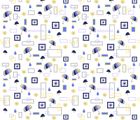 Boxed_Rain fabric by home_designs on Spoonflower - custom fabric