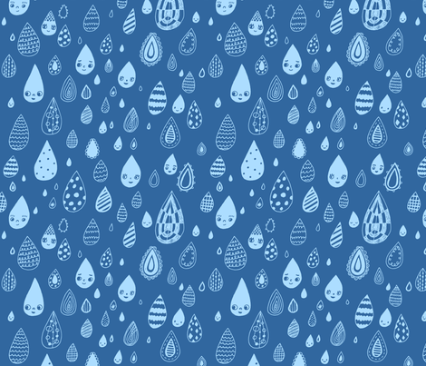 rainy day doodles fabric by liz-adams on Spoonflower - custom fabric