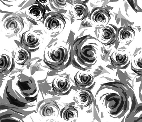 Roses Large-scale fabric by joanmclemore on Spoonflower - custom fabric