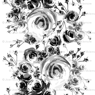 Roses in Black and Gray