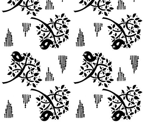 ROYAL_SPARROW fabric by gitte_strØm_thomsen on Spoonflower - custom fabric