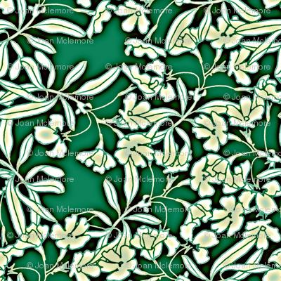 Floral Moonlight in Jade