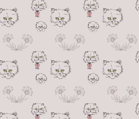 william meowrris fabric by youngcaptive on Spoonflower - custom fabric
