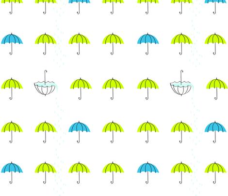 lime umbrellas fabric by dsavage on Spoonflower - custom fabric