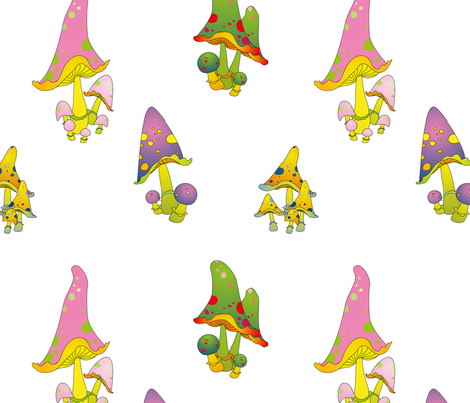 Shrooms fabric by zombie_stitch on Spoonflower - custom fabric
