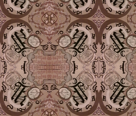 alphabets of roman calligraphy fabric by raasma on Spoonflower - custom fabric