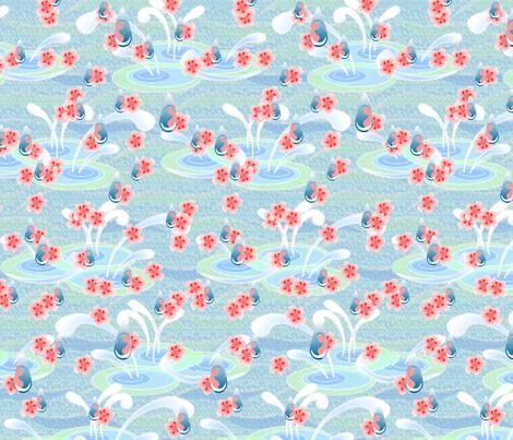 © 2011 Cherry Blossom Rain fabric by glimmericks on Spoonflower - custom fabric