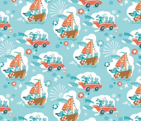 Take a ride! (Contest Version) fabric by hamburgerliebe on Spoonflower - custom fabric