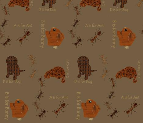 Alpha_ants fabric by kaerushisho on Spoonflower - custom fabric