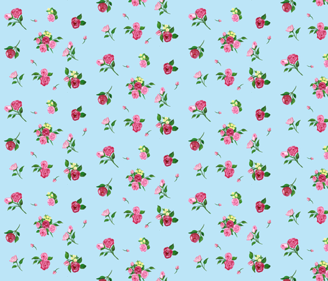 Rain Flower  fabric by rosapomposa on Spoonflower - custom fabric