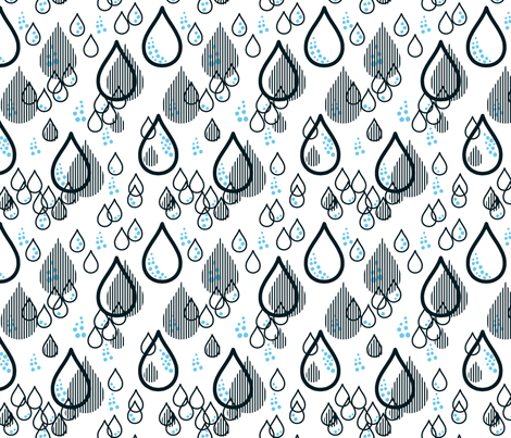 rain drops fabric by nadjagirod on Spoonflower - custom fabric