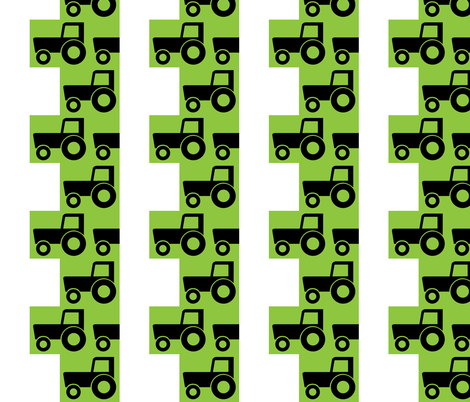 many tractors fabric by langtry on Spoonflower - custom fabric