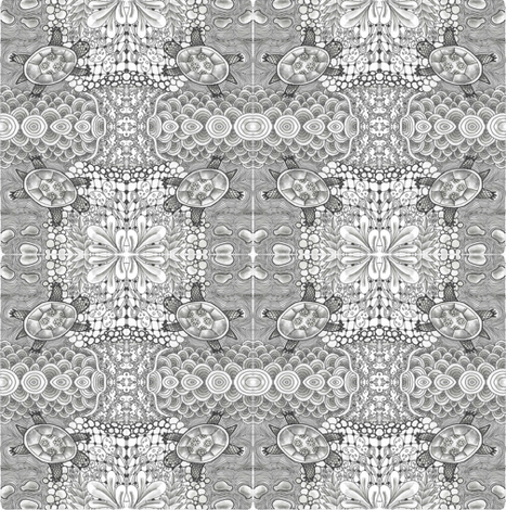 Turtle_LoveZentangle fabric by andrealivingston-shuman on Spoonflower - custom fabric