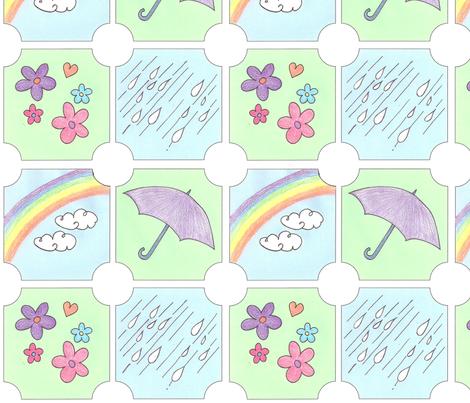 Showers & Flowers fabric by springwaterdesigns on Spoonflower - custom fabric