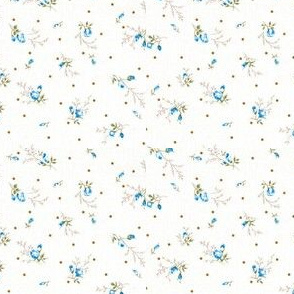 Tiny blue floral