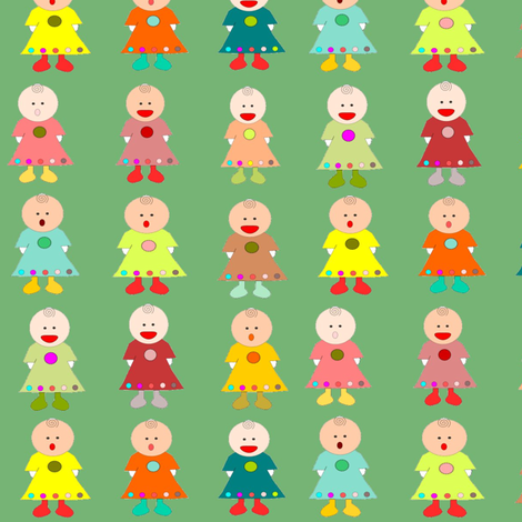 Dolls Galore fabric by 7monsters_t_inc on Spoonflower - custom fabric