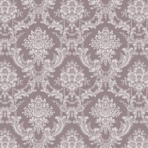 Damask-Toile-Mauve purple