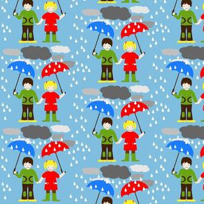 HeimatKinder Girl and Boy in Rain