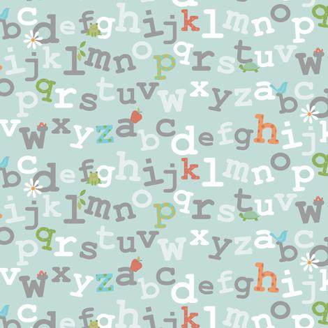 the abc's fabric by littlerhodydesign on Spoonflower - custom fabric