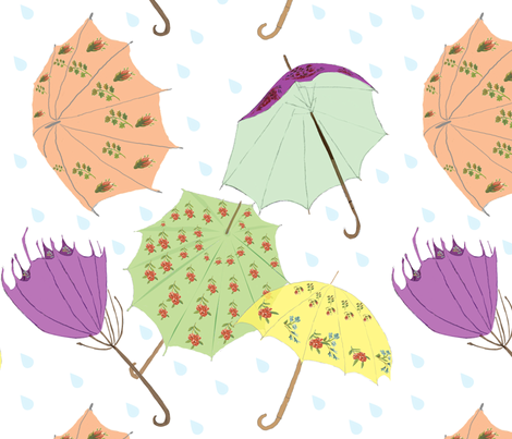 pretty_rainy fabric by marygrace on Spoonflower - custom fabric