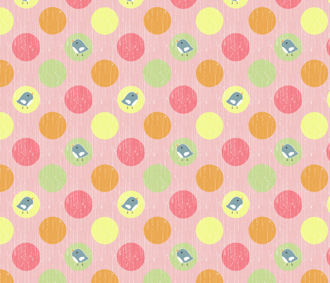country gathering dot pink fabric by christiem on Spoonflower - custom fabric
