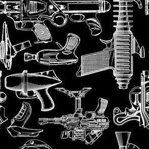 Ray Gun Revival (B&W) (8x8)